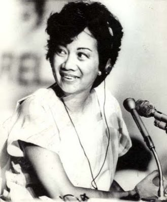 Cory Aquino at her younger years.