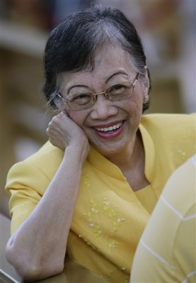 Cory Aquino at her old age.